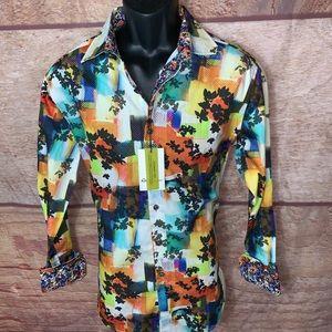 Robert graham dress shirt small style Burlingame